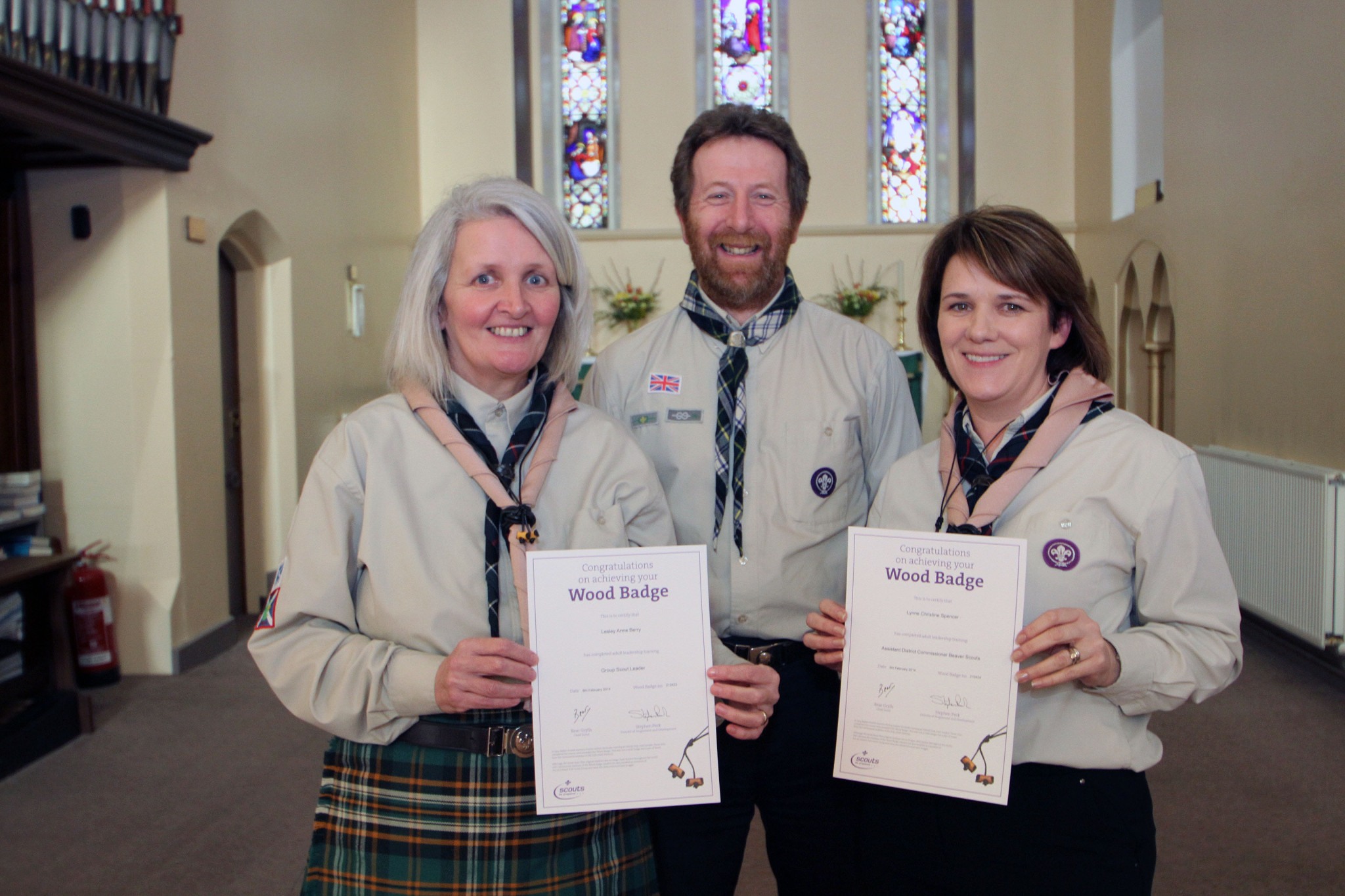 Lesley and Louise their wood badge